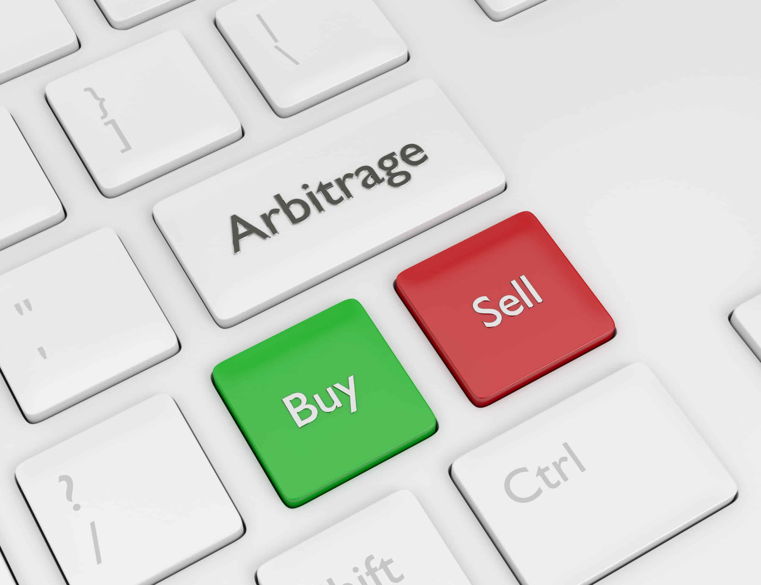 Arbitrage weiße Tastatur