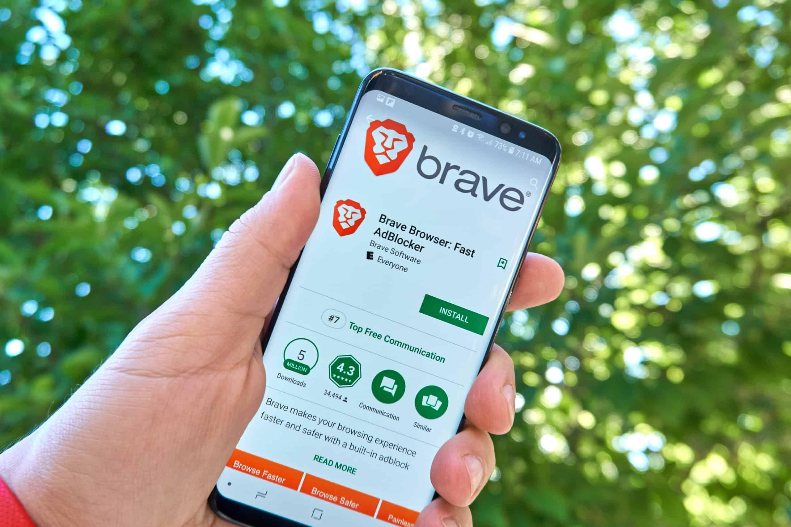 Brave Browser Smartphone