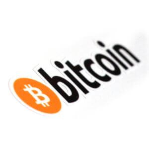 Bitcoin-Schriftzug Aufkleber (4 Stck.)