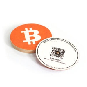 Bitcoin Bierdeckel (10 Stck.)