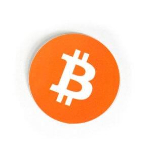 Bitcoin-Logo Aufkleber (4 Stck.)