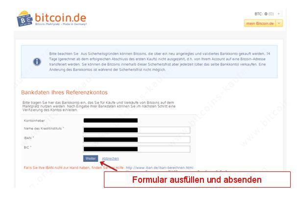 Bitcoin.de Formular