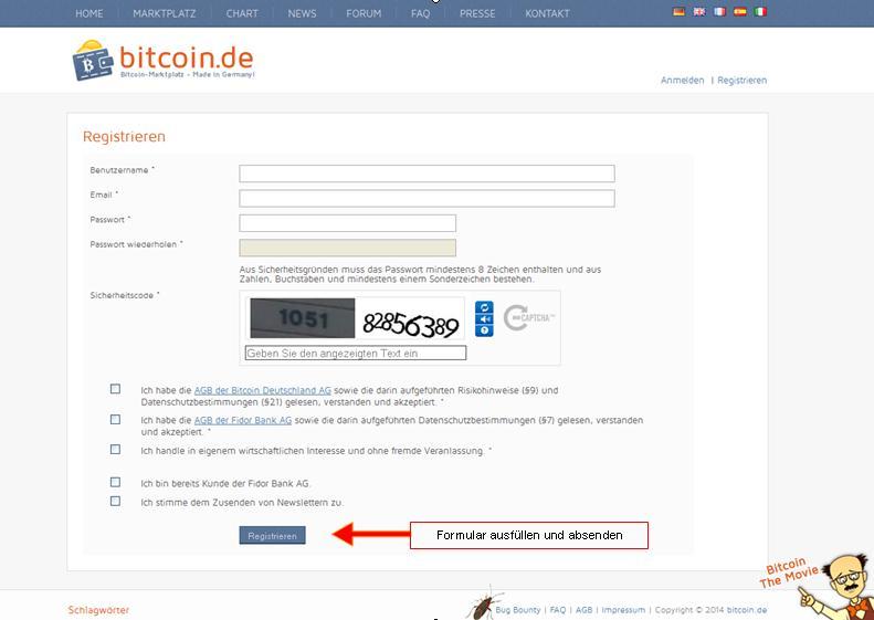 Bitcoin.de Registrierung