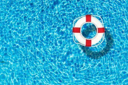 Pool, water, ring.