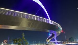 Dubai Water Canal Hanging Bridge