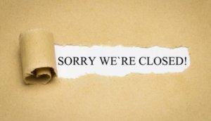Sorry we´re closed!