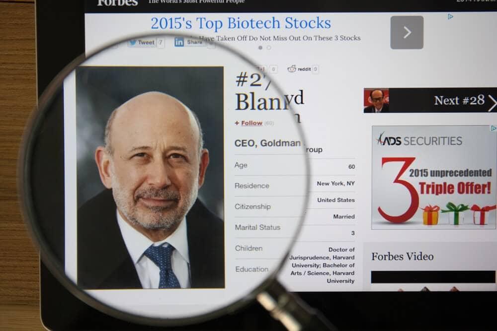 Goldman-Sachs-CEO Blankfein offen für Kryptowährungen