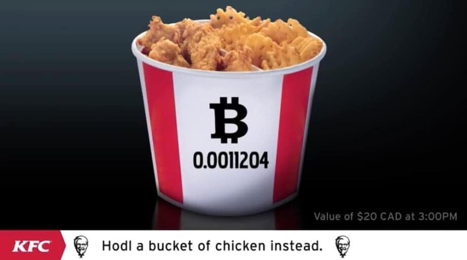 kentucky fried chicken bitcoinbucket