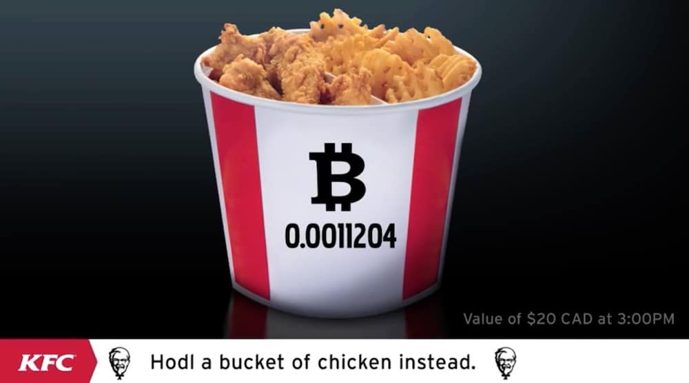 Marketing-Gag: KFC Kanada akzeptiert Bitcoin | BTC-ECHO