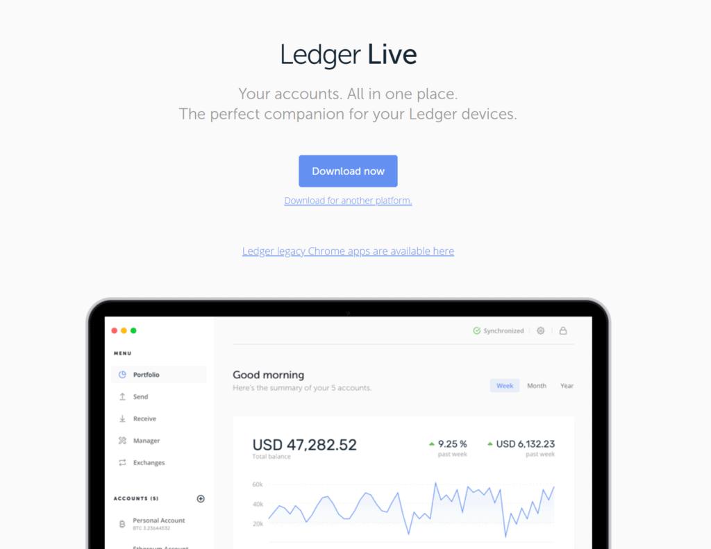 Ledger Live Desktop, Ledger veröffentlicht Ledger Live Desktop 1.0.0 (und 1.0.1)