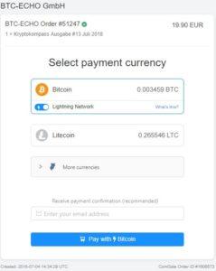 Lightning Network, Es ist vollbracht: Reale Zahlungen via Coingate über das Bitcoin Lightning Network