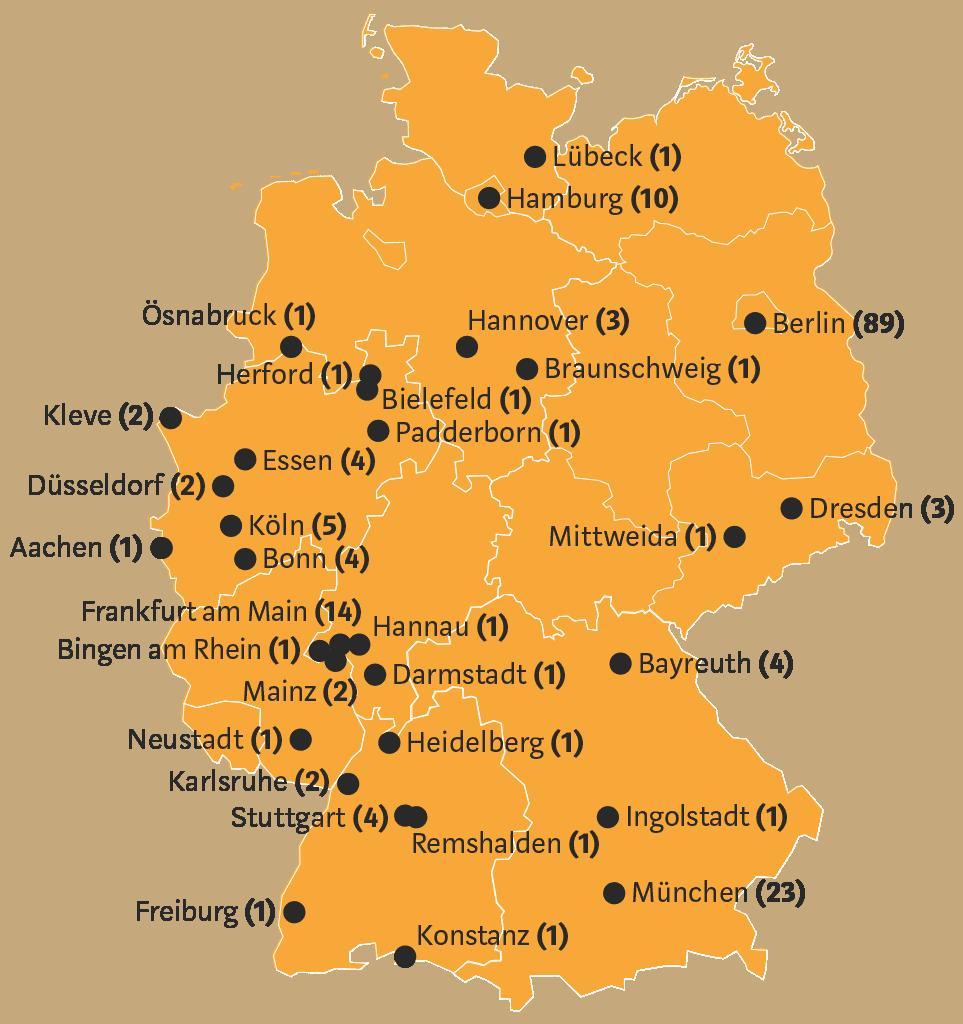 Blockchain Städte Deutschland Lage