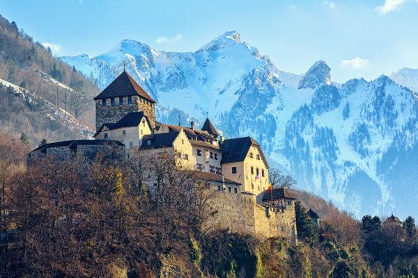 Die Burg vom Fürstentum Liechtenstein