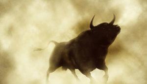 Bulle kommt aus dem Nebel