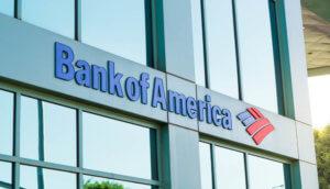 Fassade einer Filiale der Bank of America