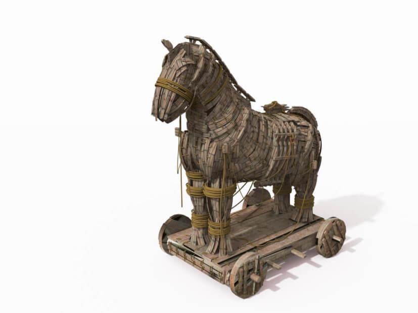 Symboldbild für die Monero Mining Malware Norman: Ein Trojanisches Pferd