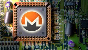 Monero-Logo auf CPU
