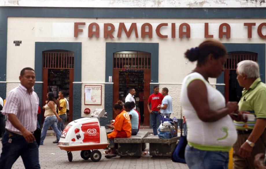 Venezuela. Apotheke akzeptiert Dash