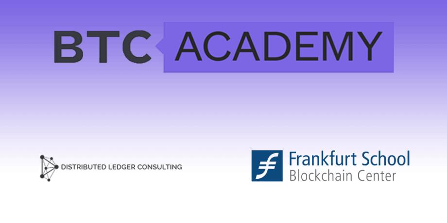 BTC-ECHO und Frankfurt School of Finance/Blockchaincenter, Distributed Ledger Consulting GmbH starten BTC-ACADEMY