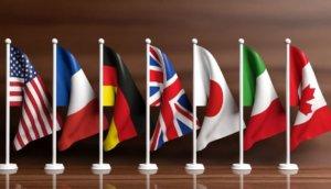 Libra-Skepis bei G7 |Flaggen der G7-Staaten L