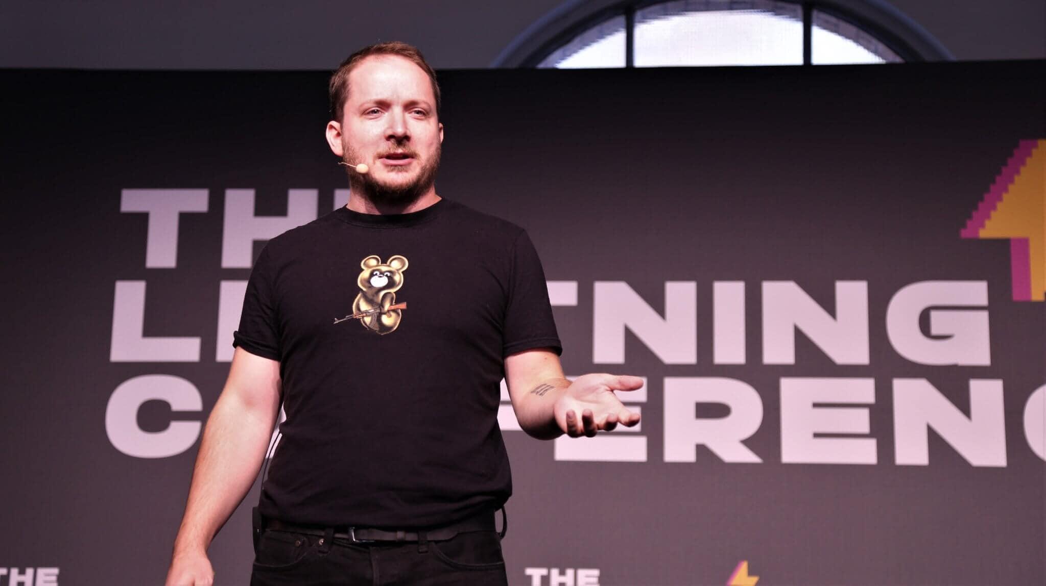 Giacomo Zucco referierte auf der Lightning-Conference über das RGB-Protokoll.
