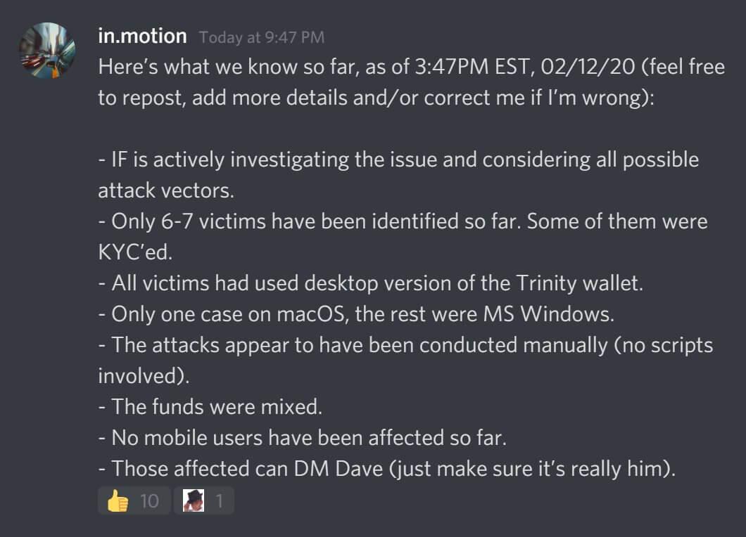 IOTA, Angriff auf IOTA, Funds und Seeds aus Trinity Wallet entwendet