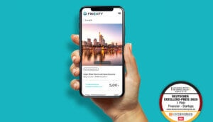 Smartphone mit Finexity App