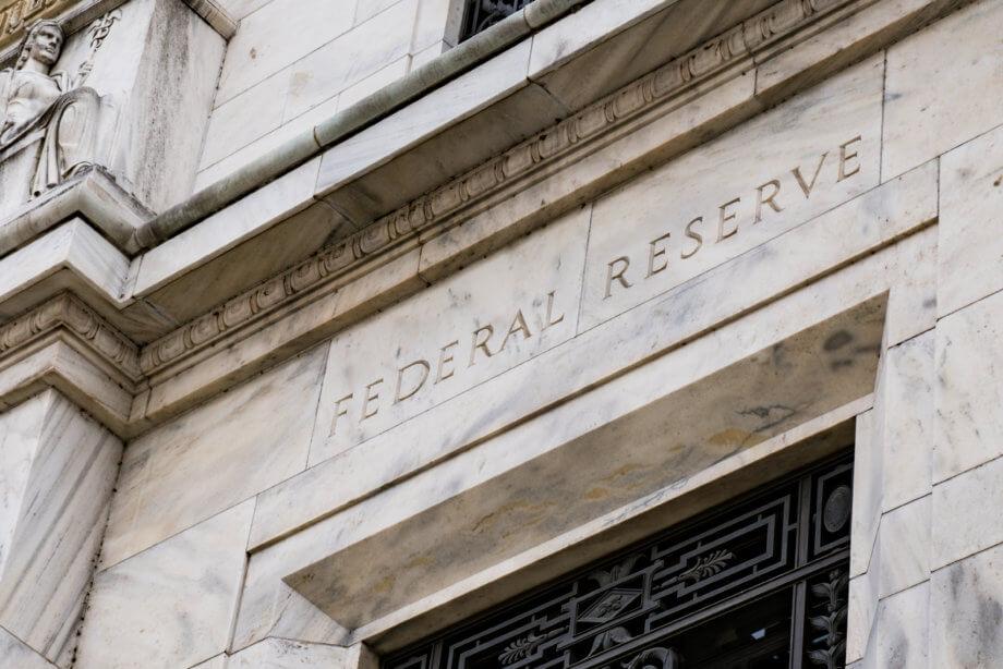 Ein Bürogebäude der Federal Reserve Bank