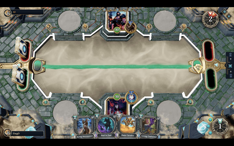 Ein Beispiel für die Spielgraphik von Gods Unchained.