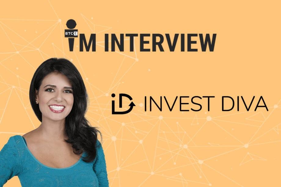 Bild mit Schriftzug im interview und invest diva mit abbildung von Kiana Danial, die im Interview selbst Tipps zum Bitcoin Investment gibt