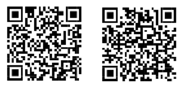 Zwei Bitcoin-Adressen als QR-Code