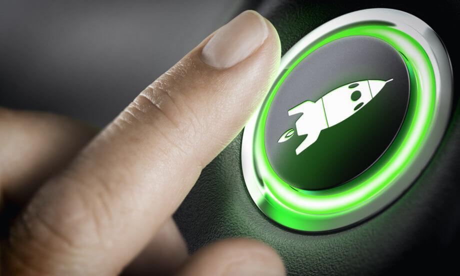 Turbo-Button, Symbolbild Bitcoin Halving