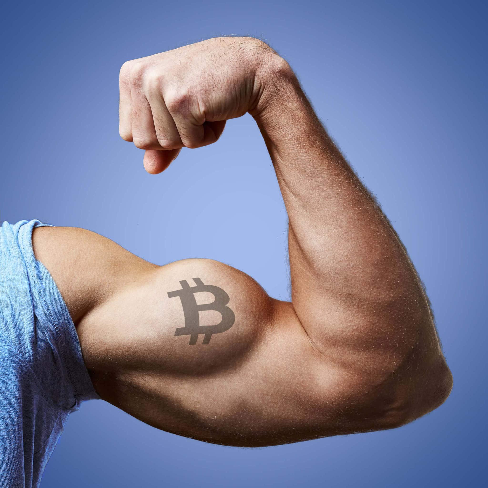 Bitcoin Tattoo auf Bizeps - Bitcoin-Kurs im Aufwind?