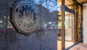 FBI Federal Bureau of Investigation Eingang mit Logo