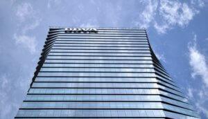 Gebäude der spanischen Bank BBVA