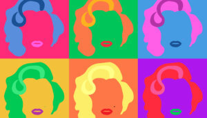 Marilyn Monroe Colored Vector Illustration Pop Art Style Andy Warhol