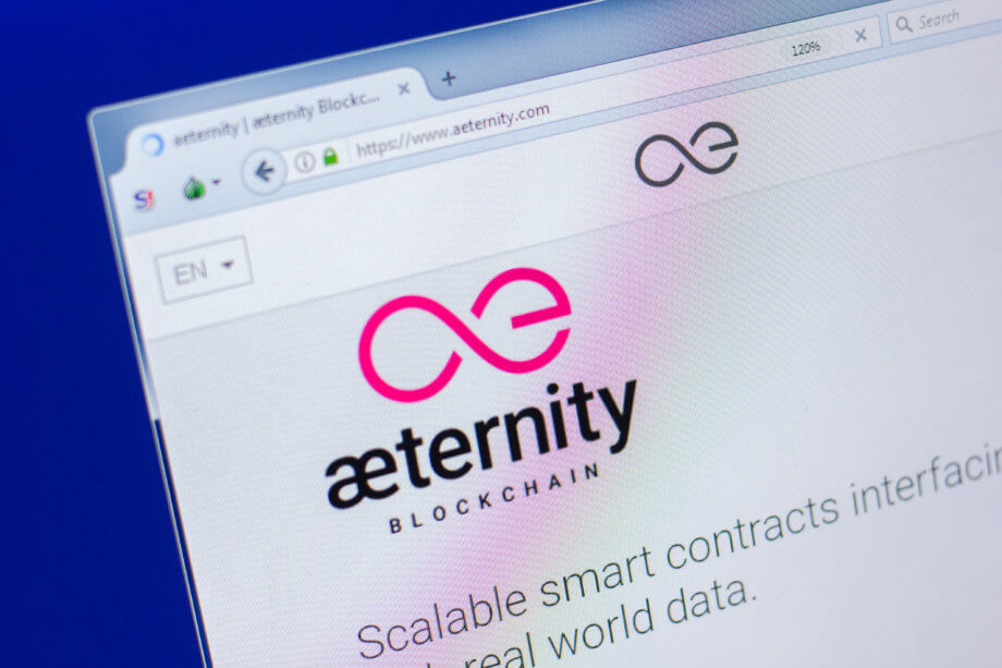 Screenshot von der Aeternity Homepage