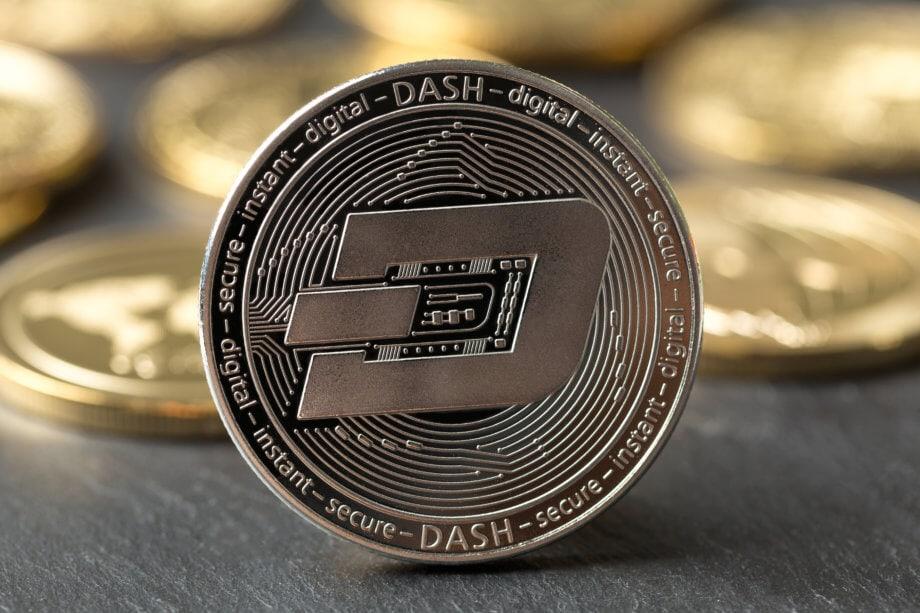 Physische Münze mit Dash-Logo