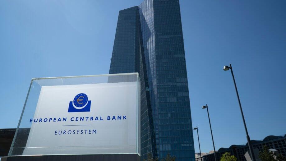 das gebäude der europäischen zentralbank, in der die möglichkeiten einer cbdc erforscht werden