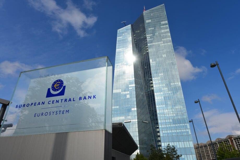 gebäude der euroäischen zentralbank (ezb) in frankfurt am main