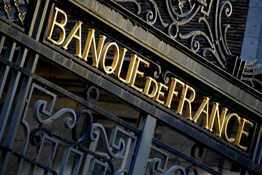 schriftzug-der-zentralbank-von-frankreich