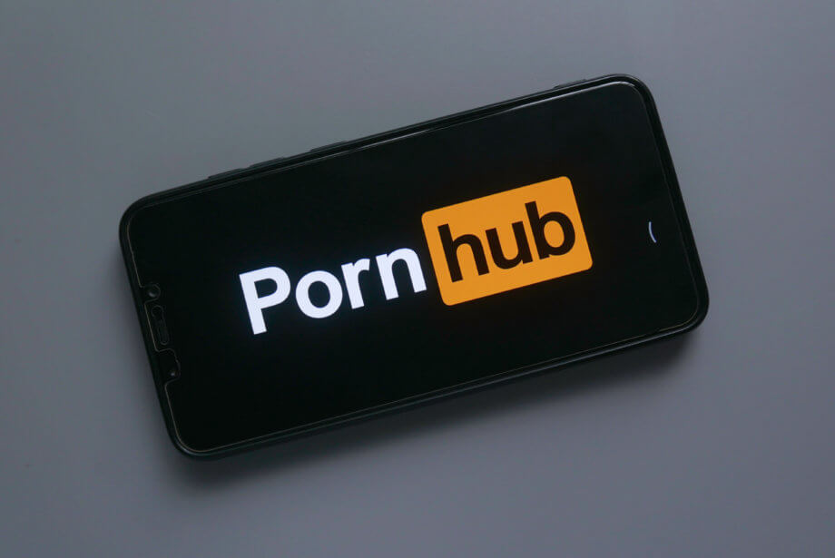 pornhub logo auf smartphone