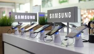 Samsung Shop mit Smartphones