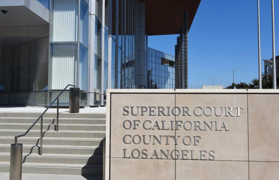 das gerichtsgebäude des superior court in kalifornien