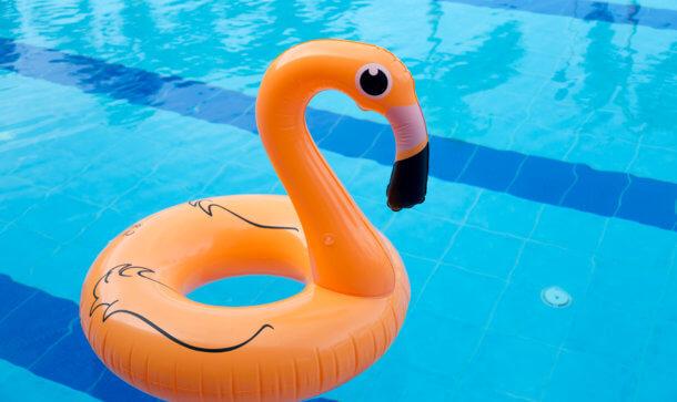 Aufblasbarer Flamingo-Schwimmring