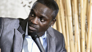 Der Sänger Akon bei der Vorstellung seines Albums Freedom in Mexico City