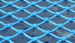 Ein blaues Sicherheitsnetz