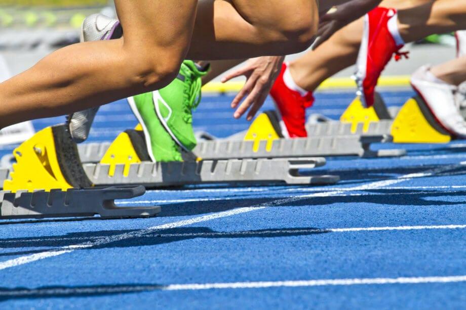 Sprinter stehen in den Startlöschern