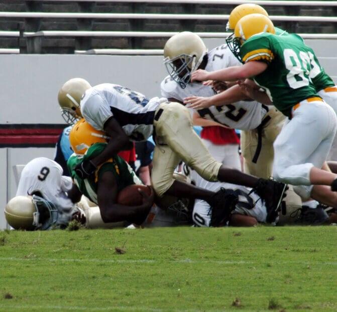 Szene aus Football-Spiel