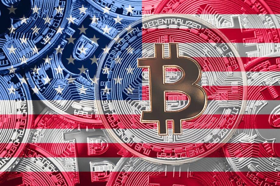 bitcoin symbol auf usa-flagge